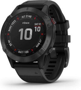 Garmin fenix 6 Pro,高级多运动 GPS 手表,功能映射,音乐,分级调整配速指导和脉搏血氧传感器