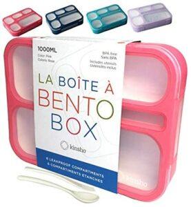 Kinsho 儿童午餐盒 Bento-Box Lunch-box Containers for Kids