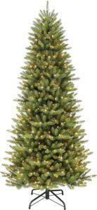 人造圣诞树Puleo International 9 Foot Pre-Lit Slim Fraser Fir Artificial Christmas Tree