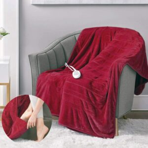 带脚袋的小毛绒电热毯