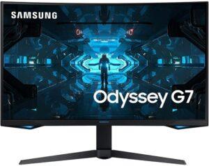 最佳自由同步的 240hz 显示器 SAMSUNG Odyssey G7 27-Inch Gaming Monitor
