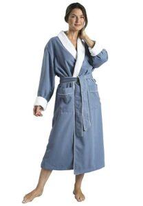 毛绒衬里超细纤维水疗浴袍