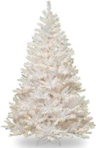 白色圣诞树 National Tree Company Pre-lit Artificial Christmas Tree
