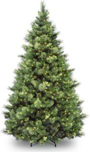非常高的假圣诞树National Tree Company 'Feel Real' Pre-lit Artificial Christmas Tree 9FT