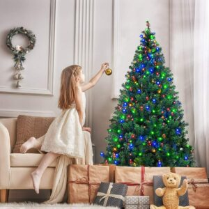 小孩喜欢的圣诞树Goplus 7.5FT Artificial Christmas Tree