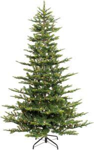 圣诞树Puleo International 7.5 Foot Pre-Lit Aspen Fir Artificial Christmas Tree